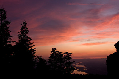Sunset from Larch Mountain, Columbia River Gorge